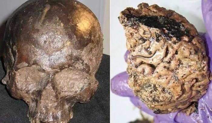 В Англия е открит древен човешки череп със запазен мозък