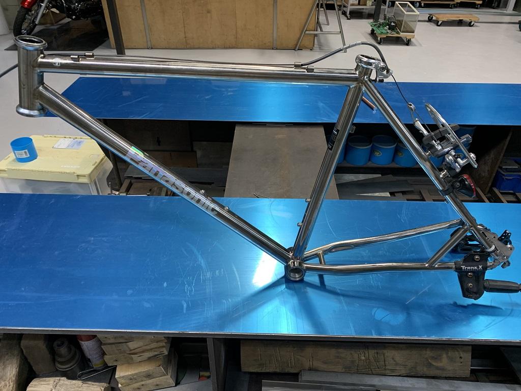 自転車チタンフレーム修理