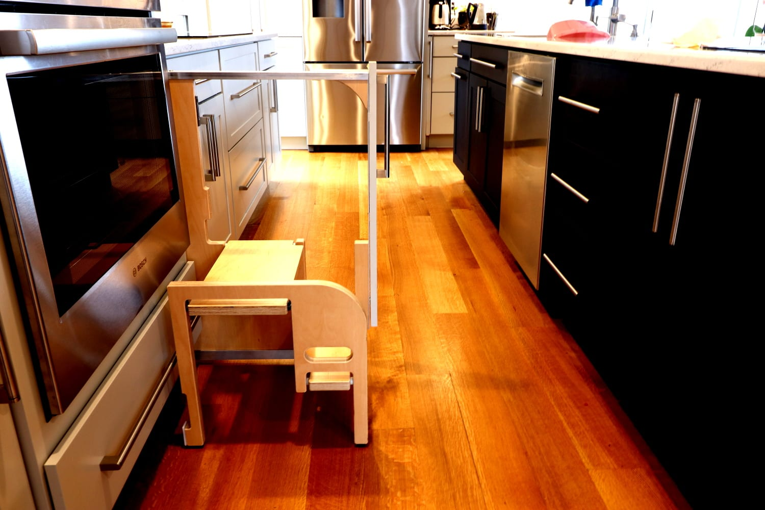 STEP 180 - Integrated Cabinet Step Stools - Hideaway Solutions
