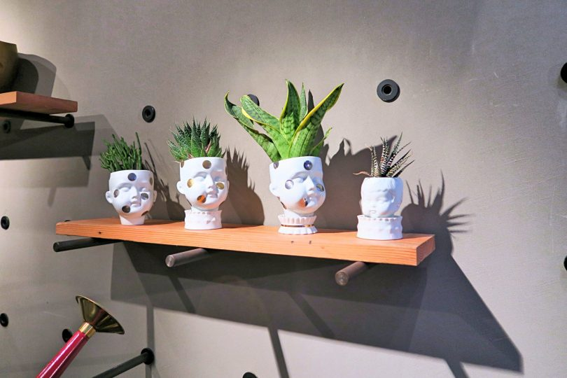 Human head shaped plant pots!