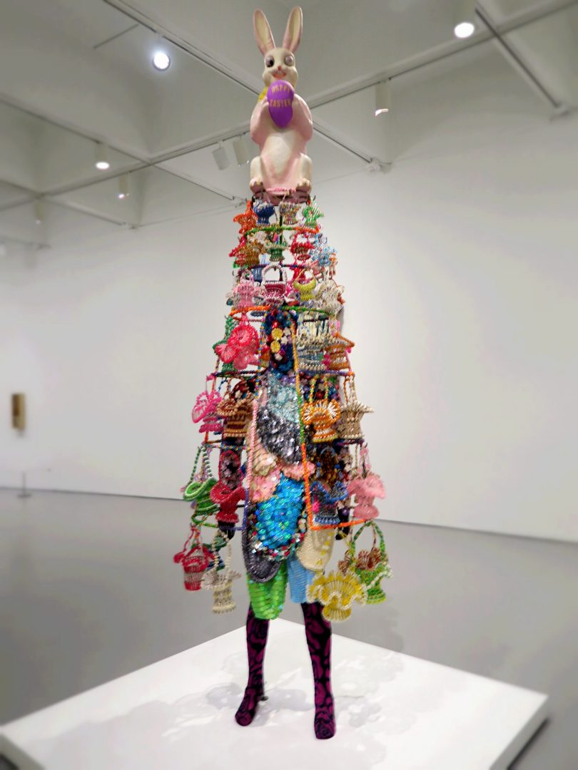 This one's a victim of a rushed photo opportunity too! So most details are lost. It's called Soundsuit and it was made by Nick Cave. Not the Nick Cave! But the performance artist one.