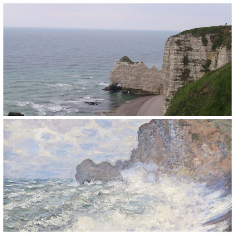 Rough weather at Étretat by Claude MONET