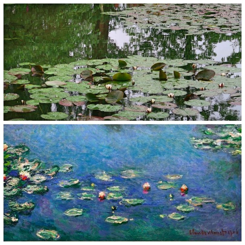 Monet Giverny water lily pond