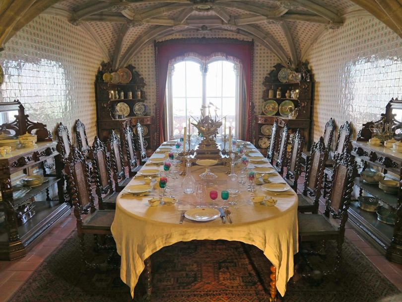 Pena Palace dining room