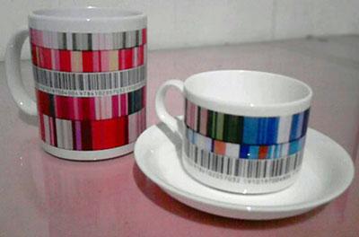 マグカップとコーヒーカップ出来上がり  Hidemi Shimura