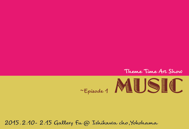 "Exhibition Info ""Theme Time Art Show -Episode1 MUSIC-"" My Artwork, Japan, fiber, embroidery Hidemi Shimura"