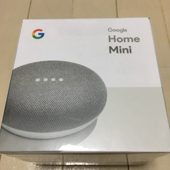 google home miniのパッケージ