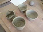 陶芸実習、電動ロクロに挑戦