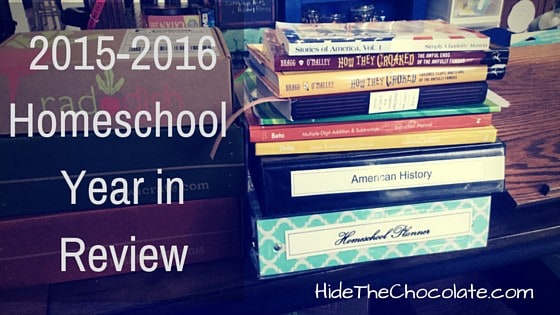 2015-2016 Homeschool Year in Review