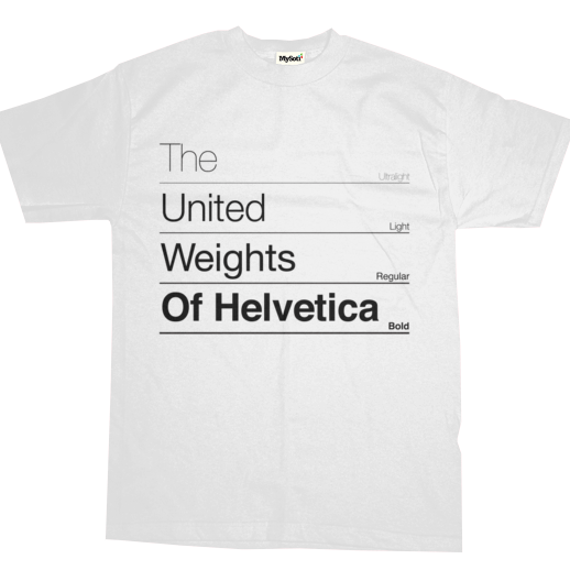 Camiseta The United Weights of Helvetica