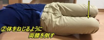 寝返り動作練習2