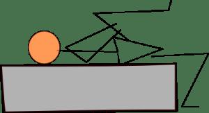 股関節伸展ストレッチ
