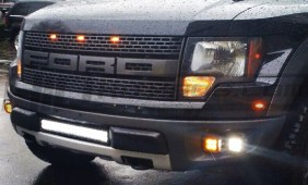 Ford Raptor Dual Dully LED CREE Pod Fog Lights with Amber Lens Cover