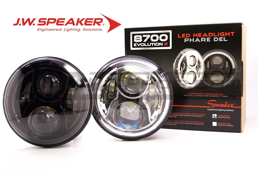 "A H6024 Head Light Glass Housing Lamp Classic Conversion Chrome 7/"" Round HID"