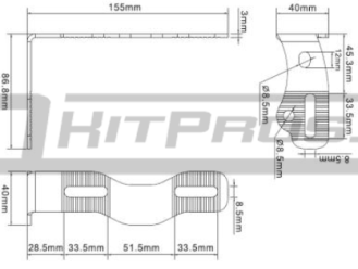 TOTRON LED Light Bar Mounting Dimensions