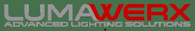 LumaWerx Logo Gray Red