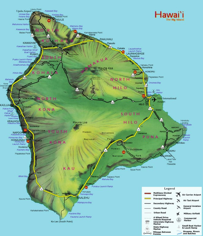 Big Island State Roads and Highways