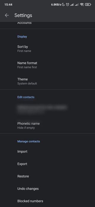 menggunakan google contacts 2