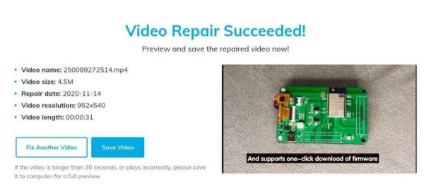 perbaiki video corrupt online 3