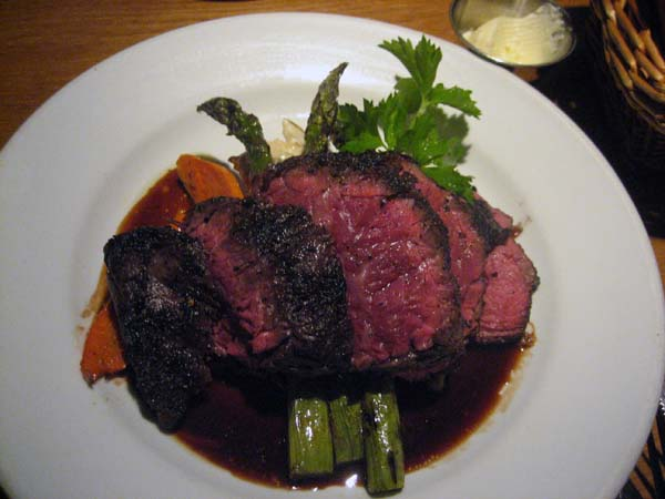 Skirt steak with classic port reduction atop uber cheesy mashed spuds