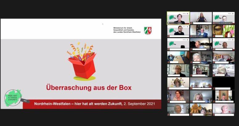 Screenshot des Öffnens der Überraschung aus der Box.