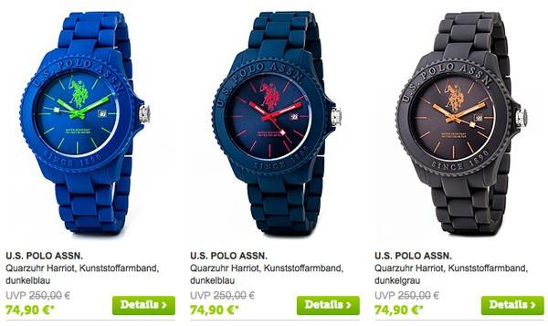 bunte Uhren von U.S. Polo Assn günstiger