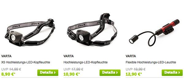 VARTA Keupfleuchten Akku Batterien günstiger kaufen