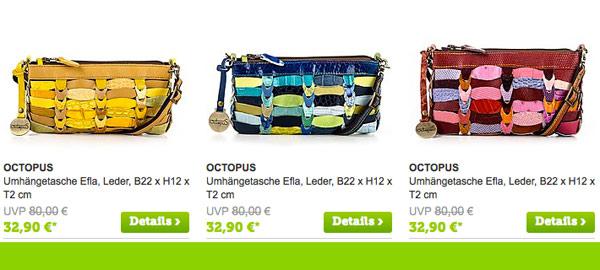 OCTOPUS bunte Handtaschen Gürtel Handytaschen und Armbänder