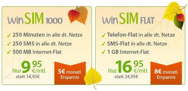 winSIM günstiger Smartphone Tarif o2
