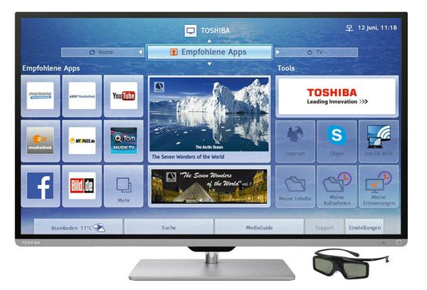 Toshiba 40L7363DG günstiger 3D LED Fernseher
