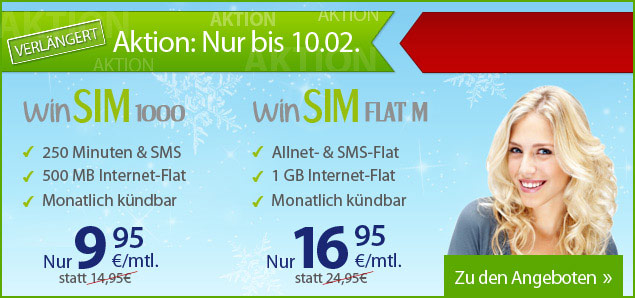 WinSim günstiger Smartphone Tarif jeden Monat kündigen