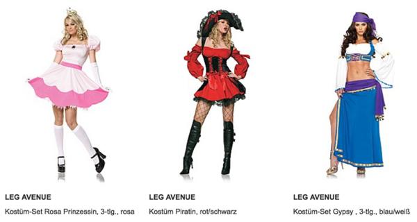 hochwertige Karnevalskostüme für Frauen und Männer und Kinder