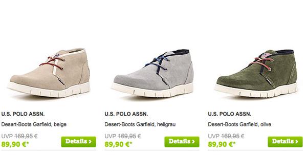Sneaker Desert-Boots US Polo Assn günstiger kaufen