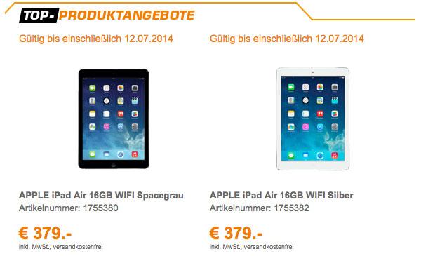 das neue iPad Air günstiger kaufen