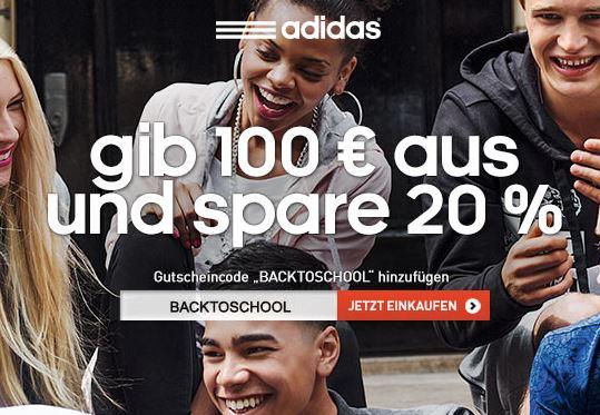 Adidas Gutschein 20 Prozent sparen