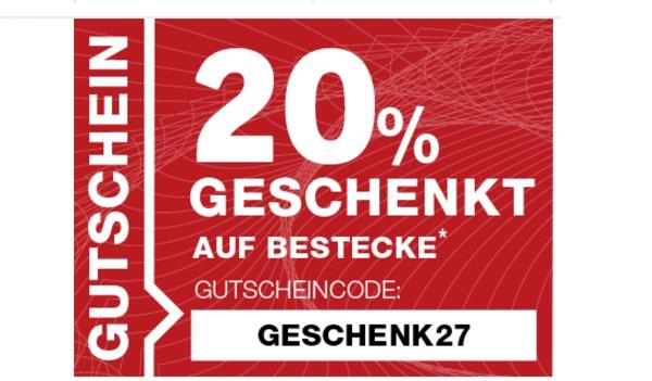 Xxxl Möbelhäuser 20 Prozent Rabatt Auf Besteck
