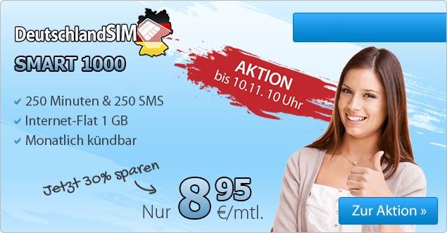 günstiger Smartphonetarif mit 1GB Datenvolumen