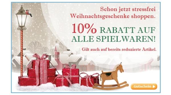 baby-markt.de Gutschein Coupon für 10% Rabatt auf alle Spielzeuge
