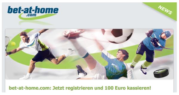 bet-at-home.com Bonus Gutschein für 100 Euro