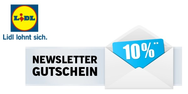 Lidl Gutschein Newsletter 10% Rabatt
