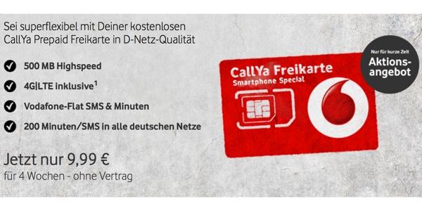günstiger Prepaid Tarif von Vodafone CallYa