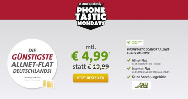 günstige Telefonfalt und Internetflat unter 5 Euro im Monat