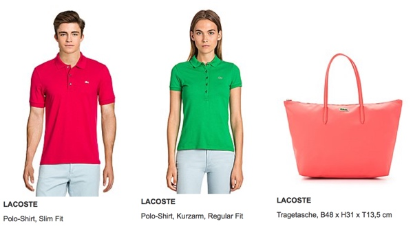 Lacoste Sale bei brands4friends 50% Rabatt