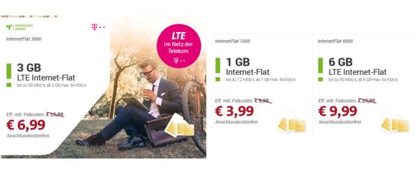günstiger Telekom datentarif im LTE Netz