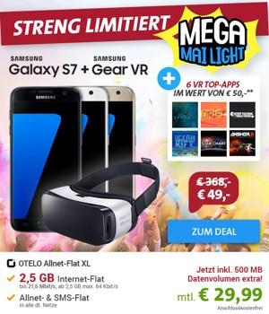 Smasung Galaxy S7 Gear VR und OTELO Flat XL