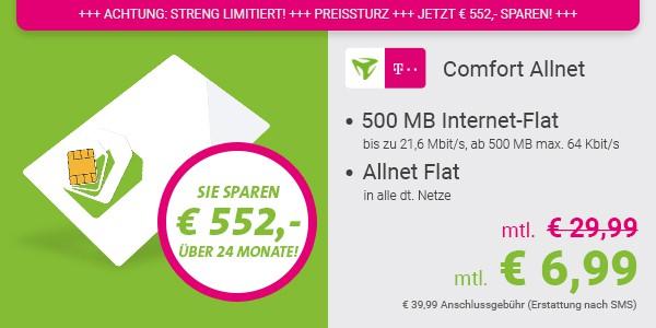 Telekom Handytarif Allnet Flat telefonieren und surfen
