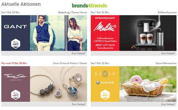 neue brands4friends.de Gutscheine