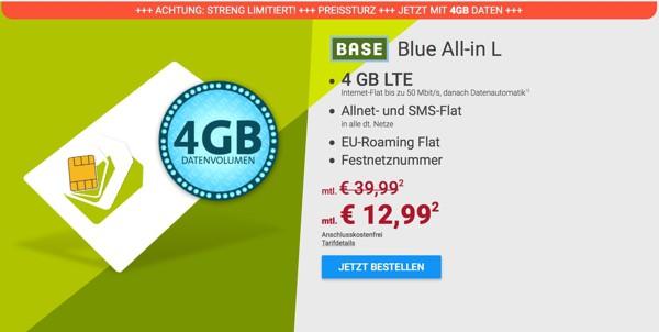 BASE All-in L günstiger Smartphone Tarif