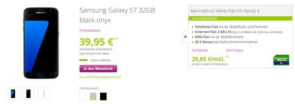 Samsung Galaxy S7 32GB mit günstigen Vertrag