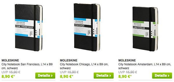 Moleskin günstiger kaufen Notizbuch